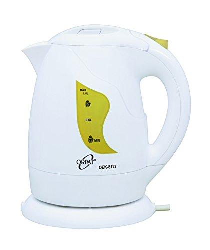 Orpat OEK-8127 1-Litre Cordless Kettle (Yellow)