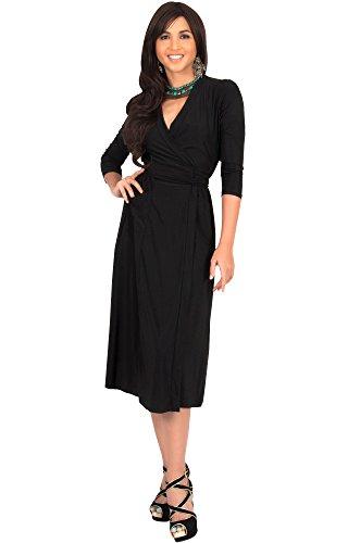 koh-kohr-femmes-plus-size-grande-taille-robe-mi-longue-manches-3-4-col-v-chale-cocktail-longueur-gen