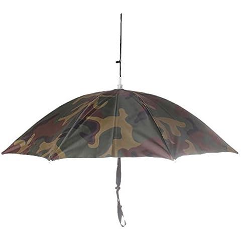 Casquillo Gorro Sombrero De Cabeza Paraguas Al Aire Libre Sol Ropa De Lluvia Para Acampar Pesca