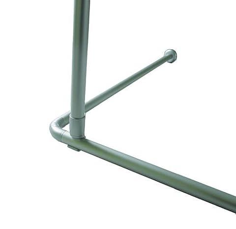 plafond fixation alu EXTRA longue 120 cm! Pour barre angulaire barre pour le rideau de douche argentine mat