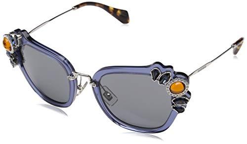Miu Miu Damen 0MU03SS VAV6Q0 51 Sonnenbrille, Blau (Bluette/Grey),