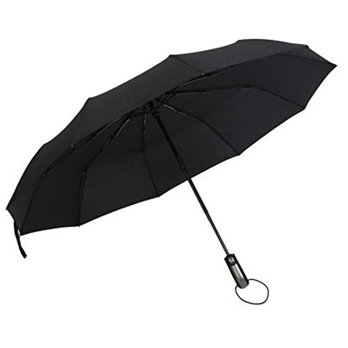 JUNDY Faltbarer Kompakt Taschengröße Sonnenschirm Regenschirme Schwarzer Kunststoff automatischer Sonnenschutz Sonnenschutz Dreifach-Regenschirm Farbe3 102cm