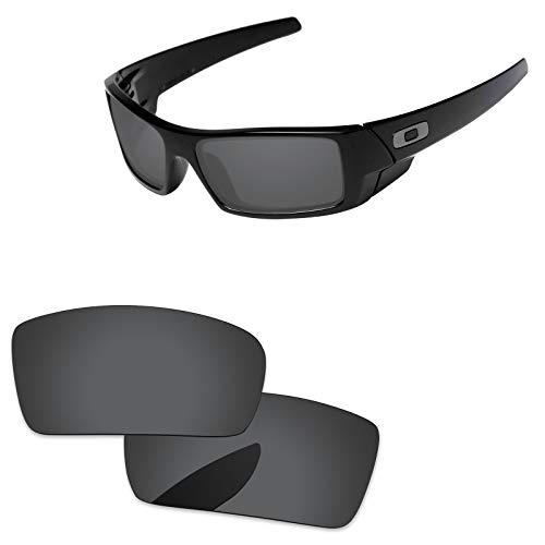 Oak&ban polarisierte Ersatzgläser für Oakley Gascan Sonnenbrillen, Verschiedene Optionen, mit Brillentuch, Herren, Black - Polarized
