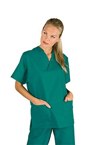 Casacca collo a V verde mezza manica infermiere, veterinario,OSS Isacco S