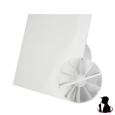 MKK Wohnraumlüfter Badventilator Deckenlüfter Ø100 mm Kugellager leise 4,4 Watt WC Ventilator Decke Timer/Nachlauf mit Rückstauklappe
