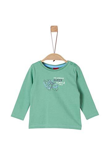 s.Oliver Baby-Jungen 65.908.31.8650 Langarmshirt, Grün (Green 7236), (Herstellergröße: 92)