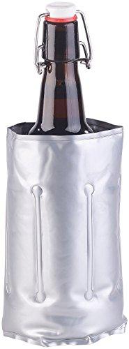 infactory Weinkühler: Flaschenkühler mit Klettverschluss für Ø 75 - 80 mm, Kühl- & Wärme-Gel (Weinkühler Kühlmanschette)