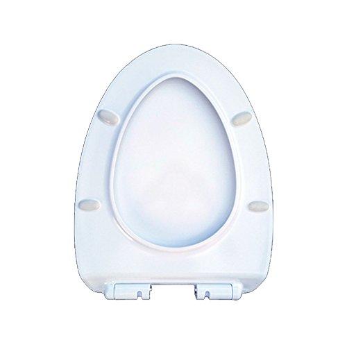 ANHPI Universale Sedile Del Water Sottile V-shaped Coprisedile Per WC Discesa Silenzioso Coperchio Del Water,White-47*36.5cm