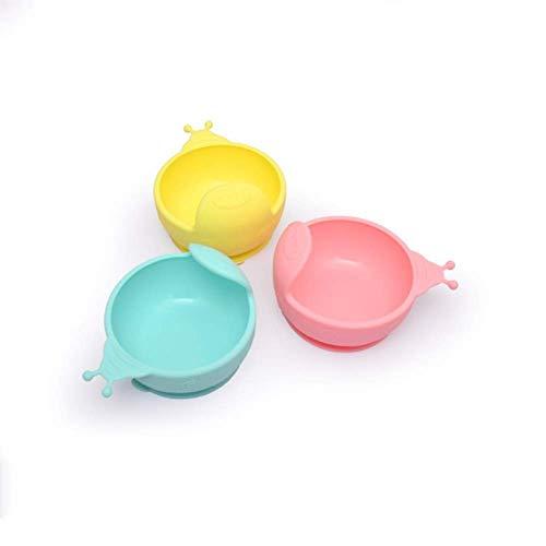 YWT 3 Stück Set Hohe Saugfuß Babyschale Food Grade Silikon Kinder Schüssel Rutschfeste Heizung Futternapf Kühlschrank Mikrowelle und Spülmaschine Kompatibel Ohne BPA