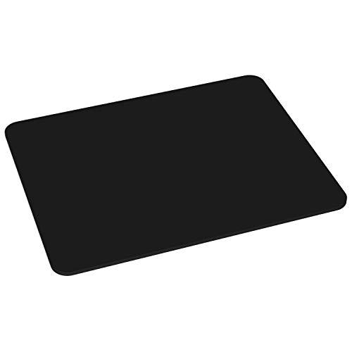 PEDEA Gaming und Office Mauspad - 220 x 180 mm -  mit vernähten Rändern und rutschfester Unterseite, schwarz