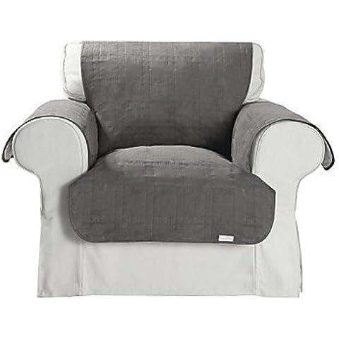 LBLI impermeabile grigio microsuede cubo solido copertura della sedia quilting