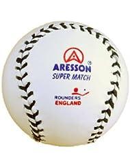 Aresson Super Match Balle de Rounders Blanc 18,2 cm