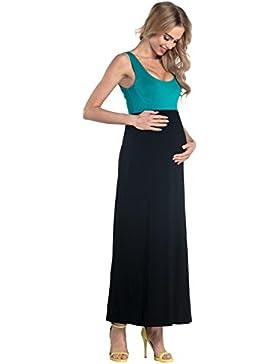HAPPY MAMA Donna Prémaman Vestito Impero Maxi Senza Manicha Maternità. 292p