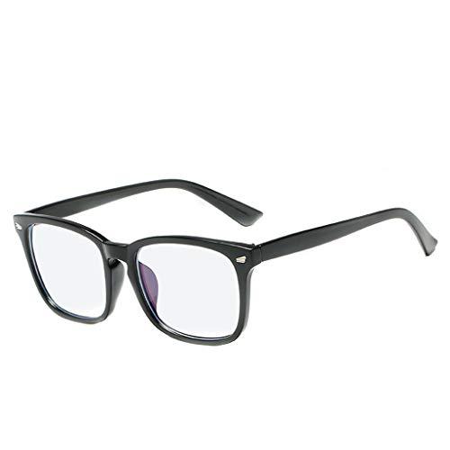 Hhyyq Nerd Brille Damen Keine Macht High-End-Brillengestell Flache Spiegel Studenten Retro-Retro-Brille Großen Rahmen High-End-Brillengestell(E)