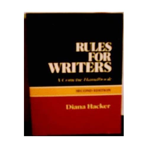 Rules for Writers: A Concise Handbook by Diana Hacker (1988-06-30)