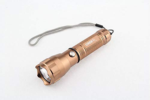YMNL Taschenlampe, Aluminiumlegierung Ist Superhell, LED-Beleuchtung Geeignet für Zuhause, Außenbeleuchtung,Der Blitzlichtkopf Kann Als Lebensrettender Hammer Verwendet Werden