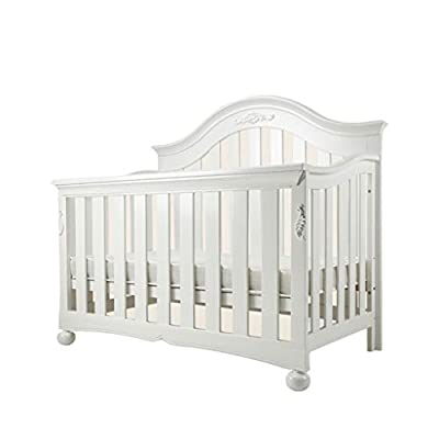 DUWEN-Cot bed Solid Wood Multifunctional Baby Cot European Toddler Bed Game Bed Sofa Bed Children's Bed (color : White)