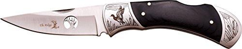 Elk Ridge ER-539 Serie, Taschenmesser PAKKAHOLZ Griff, 8,89 cm Outdoormesser ROSTFREI Klinge für Angeln/ Camping, leichtes 181gr Klappmesser