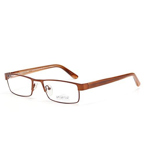 YMTP Metall Männer Frauen Brille Frames Klar Retro-Qualität Myopie Optische Transparente Mode Brillen Rahmen, C1