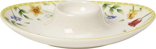Villeroy & Boch Spring Awakening Coquetier, Porcelaine Premium, Jaune/Vert/Rouge