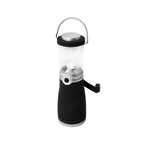 Eaxus® LED Dynamo Camping Laterne - wasserdichte Notfall Lampe, Silber
