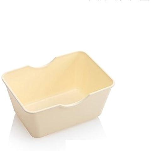almacenaje de la cocina caja de almacenamiento de la cesta rectangular restos Snacks Mini mesa del cuadro de clasificación caja de plástico guante ( Color : Milky White )