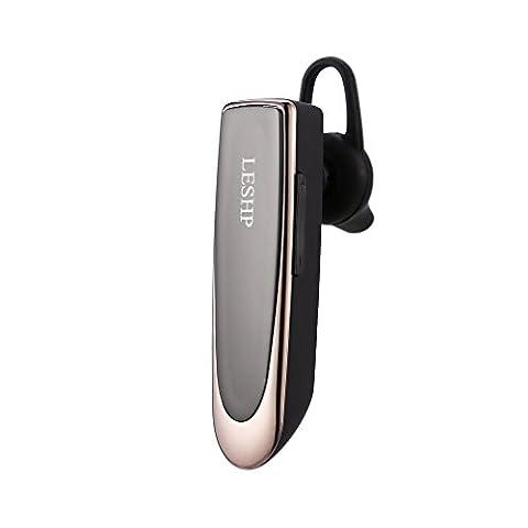 Mini Écouteur Bluetooth 4.0 LESHP Oreillet Sans Fil Charge 3h Duré 22h Écouteur Mains Libres pour Conduire et Sports Casque de Veille Compatible avec Plusieurs Protocoles Tels que A2DP HFP AVRCP