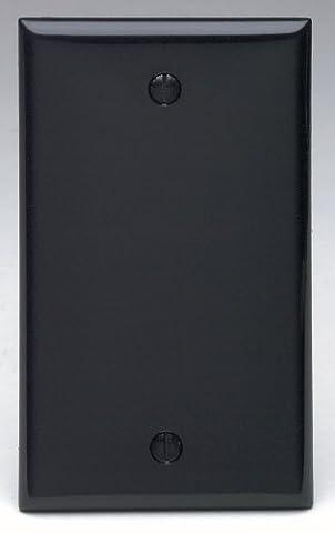 Leviton 80714-E 1-Gang No Device Blank Wallplate, Standard Size, Thermoplastic Nylon, Box Mount, Black by