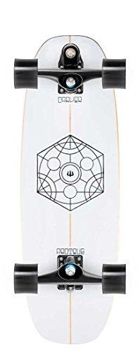 Carver Proteus komplett Surf Skateboard 77,5cm–C7, schwarz (Skateboard Carver Komplett)