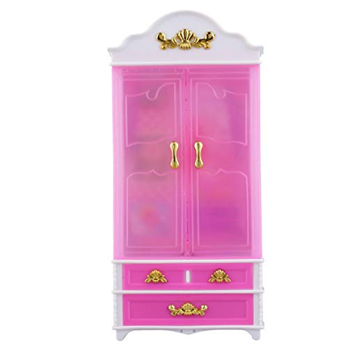 Delicacydex armadio rosa armadio per principessa casa delle bambole mobili camera da letto in miniatura vendita in tutto il mondo