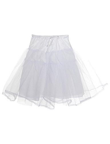 Topwedding Girls Kinder Reifrock Petticoat Unterrock Tüllrock Krinoline Hoopless, (Petticoat Krinoline Kostüme Slip)