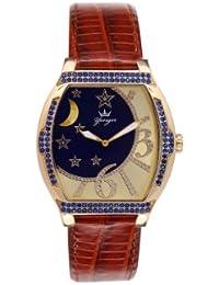 Yonger pour elle DCP 1532/02 - Reloj , correa de cuero color blanco