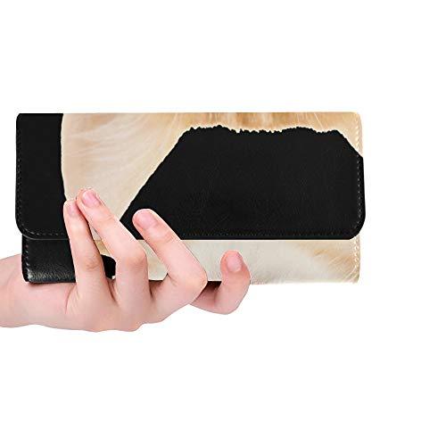 Einzigartiges nettes kleines rotes Kätzchen lokalisiert auf Frauen-dreifachgefalteter Geldbörsen-Langer Geldbeutel-Kreditkarteninhaber-Fall-Handtasche -