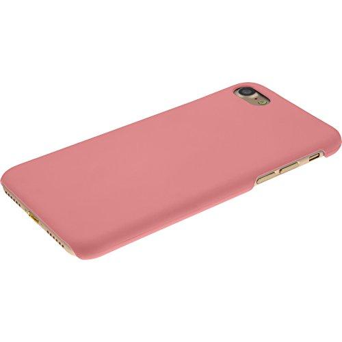 PhoneNatic Case für Apple iPhone 7 Hülle rot gummiert Hard-case für iPhone 7 + 2 Schutzfolien Rosa