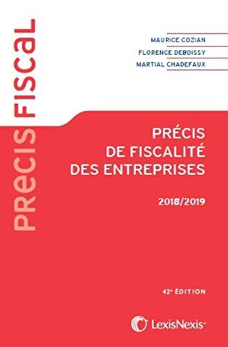 Précis de fiscalité des entreprises 2018/2019