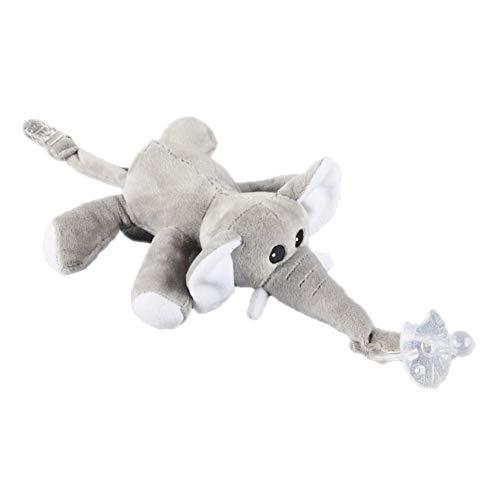 Bebé elefante Chupete Chupete titular desmontable
