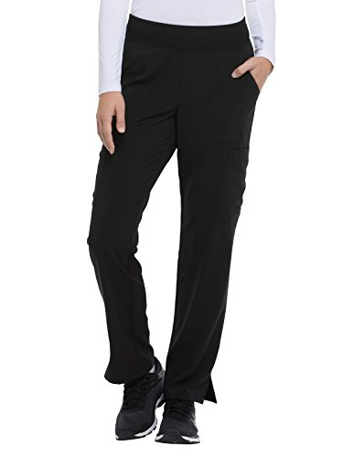 Dickies EDS Essentials by Women's Knit Waistband Scrub Pant XXX-Large Petite Black
