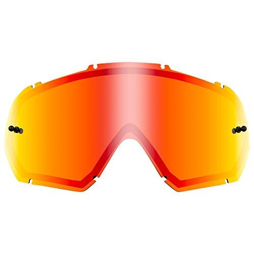 O'Neal Ersatz Doppel Scheibe B-10 Goggle Moto Cross MX DH Downhill Brille Zubehör, 6024-9, Farbe Radium Rot