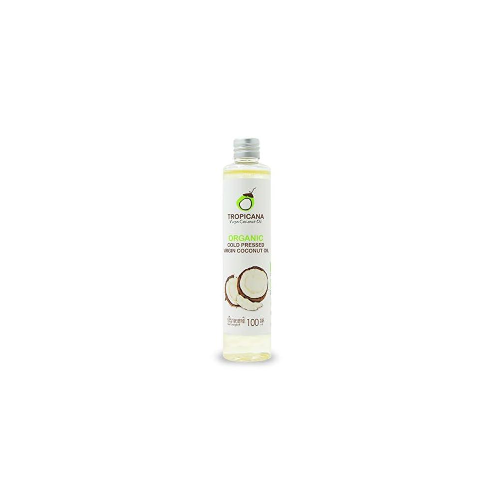 Tropicana Oil Bio Kokosnussl Extra Nativ In 100 Ml Coconut 100 Vegan Kokosl Fraktioniert Bio Qualitt Nativ Und Kaltgepresst Fr Haare Haut Kochen Organic Cocos Glutenfrei