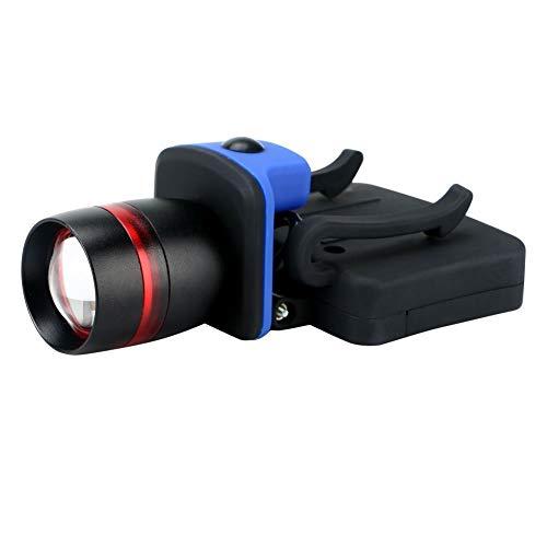 ZAIHW LED-Kopflampe-3-Modi Kugelhutlampe Taschenlampe leistungsstarke 400 Lumen mit fortschrittlicher Spot-Flood-Optik - Ermöglicht Fernlicht und breite Ausleuchtung von AAA-Batterien für Camping-Wand