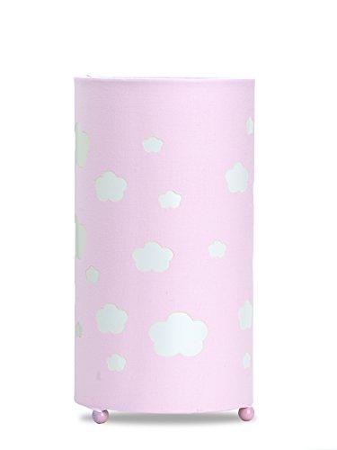 Aratextil Samantha Lampe de Table, Coton, Rose, 24.5 x 13 cm