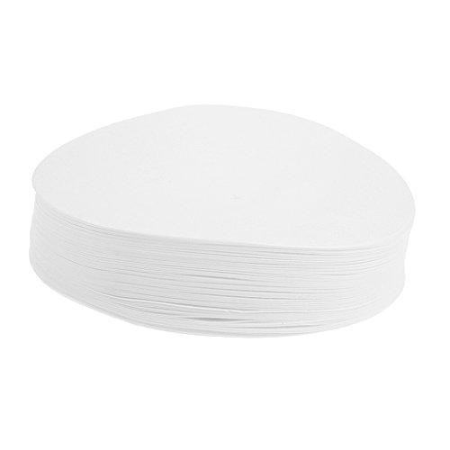 Homyl 80-120µm Quantitatives Filterpapier Durchmesser 7/9/11/12,5/15 cm Kreisförmig Filter-Papier für Laborexperiment (100 Stücke) Aschegehalt Weniger als 0,0009% - Weiß, 9 cm (Labor-filter-papier)