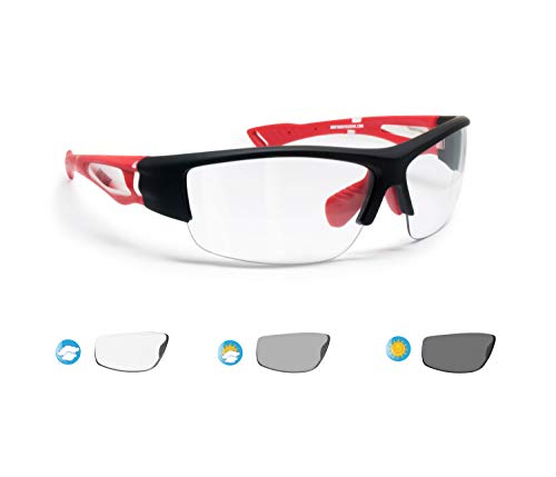 BERTONI Sportbrille Selbsttönend Herren Damen für Radfahren Skilaufen Golf Laufen Angeln - mod. F1001B