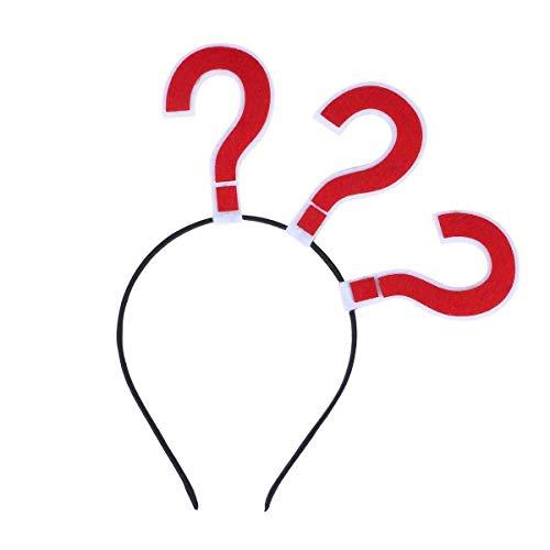 Fragezeichen Stirnband Party Haarband Neuheit Kopfbedeckung Haarband Partyhut Kostüm bevorzugt Lieferungen (rot) Mode (Kleinkind Roten Stift Kostüm)
