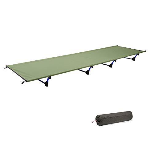 YKS Feldbett 1,2 KG ultraleichte 60 * 185 200KG atmungsaktiv wasserdicht Bett Oberfläche 7001 spezielle Luftfahrt Aluminium Bett Lagerstuhl