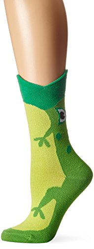 K. Bell Womens Wide Mouth Crew Socks, 61489, 9-11, Frog