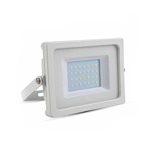 V-TAC vt-4830 30 W LED à + Blanc Projecteur – Projecteur à LED, blanc neutre, iP65, couleur : blanc, Aluminium, ce, EMC)
