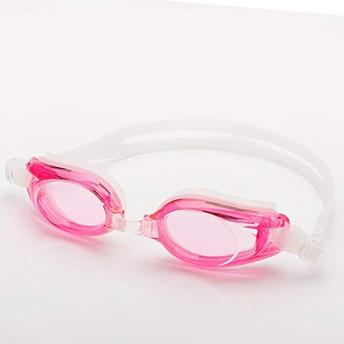 LBXMLX Anti-Fog Swimming Goggles No Leakage, Anti-Fog, Anti-UV, 180 Degree Vision and Soft Silicone Nose Goggles, Men's and Women's Children@Pink