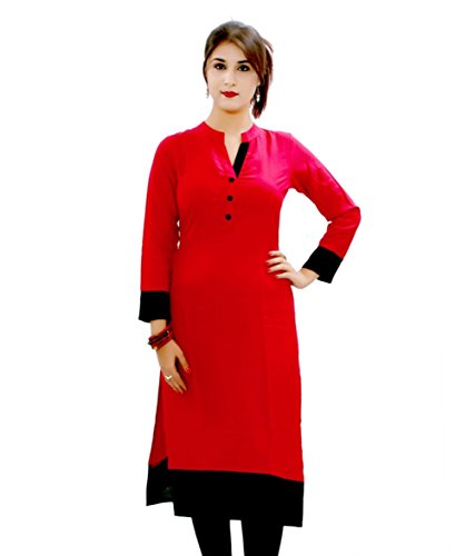 Fusion Multicolor Cap Half Long Short Sleeve Sleeveless Kurtis Kaftan for Girls (GT-KVR-R-XXL)