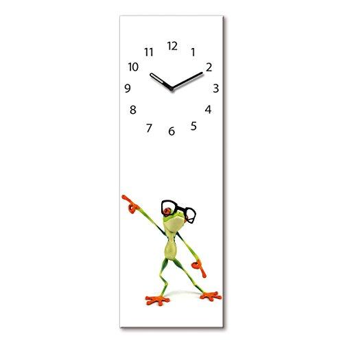 Eurographics Dancing Frog 20x60 Uhren, Glas, 20 x 60 cm, 60x20x3.5 cm -